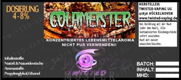 twisted aroma concentrato colameister 10ml